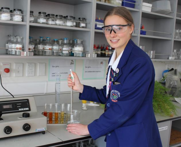 Southland Girls' High School year 13 pupil Ella Zwagerman (16) has been selected to attend the Future Experiences in Agriculture, Science and Technology programme at the University of Queensland, in Brisban,e at the end of the month. Photo: Abbey Palmer