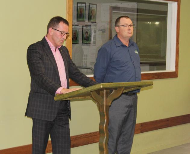 Southland disAbility enterprises chairman Stephen O'Connor (left) and general manager Hamish...