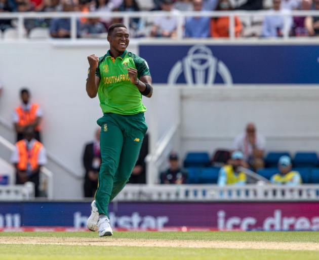 Lungi Ngidi of South Africa has missed three matches since but after being put through his paces on Monday he told reporters he was raring to go. Photo: Getty Images