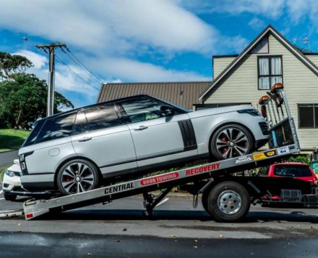 Four Range Rover Sport worth $150,000 each were seized from Comancheros members in Operation Nova...