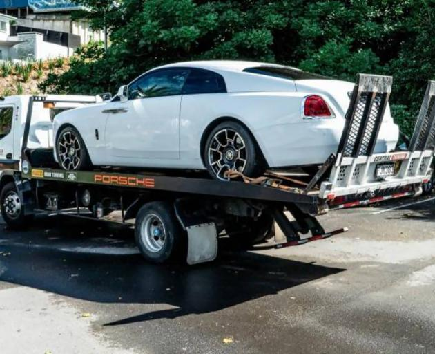 A Rolls Royce Wraith worth $500,000 was restrained in Operation Nova. Photo: Supplied