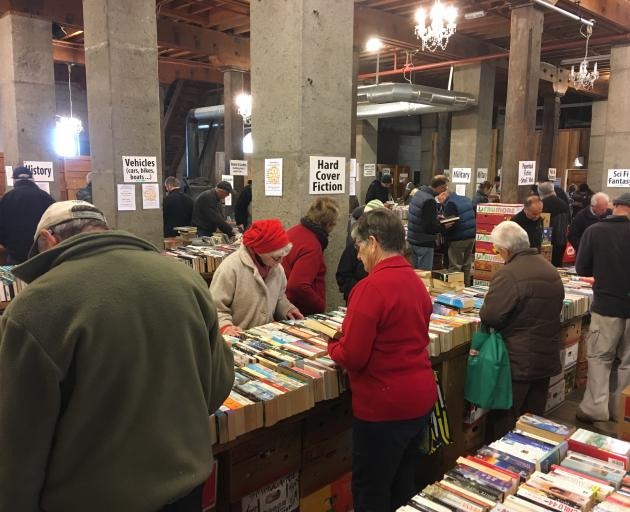 A large crowd gathered at the Loan and Merc for this year's Bookarama.