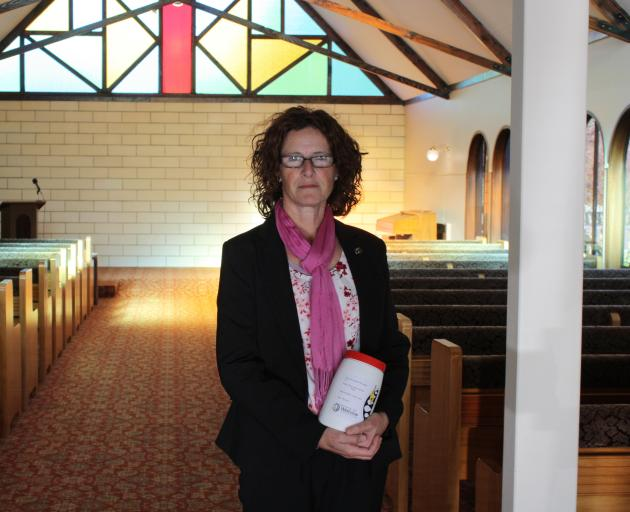 """Whitestone Funerals manager Janeen Paull holds """"forgotten Mary'', who will be laid to rest next..."""
