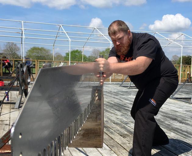 Robert Dowling trains for the 2018 Stihl Timbersports World Championship. PHOTO: STIHL