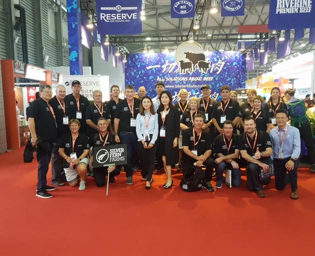 Participants on a Silver Fern Farms market tour to China attend the SIAL food show in Shanghai.