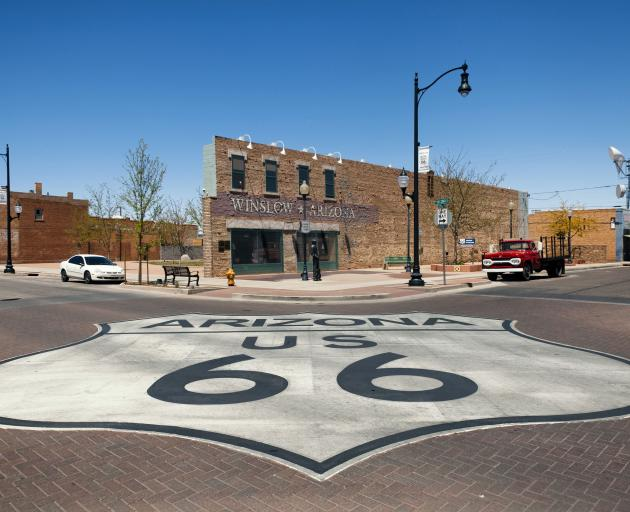 Winslow, Arizona, has taken advantage of being mentioned in the Eagles' song Take It Easy to...