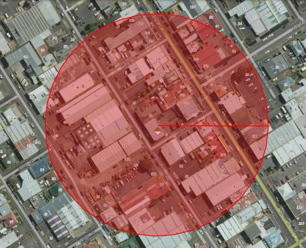 A 100m radius around the Blis Technologies building will be evacuated tomorrow morning as the...