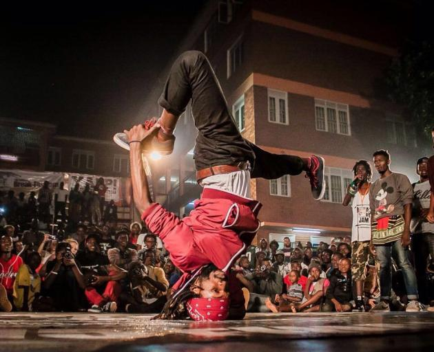 Caroline Plummer fellow Antonio Bukhar in action — he started out breakdancing. Photos: Supplied