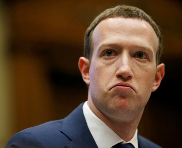 Facebook CEO Mark Zuckerberg testifies before the House Energy and Commerce Committee hearing in...