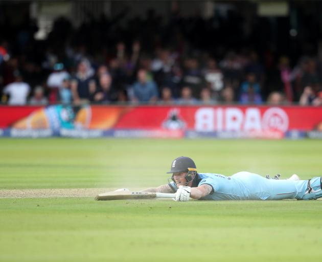 The ball deflected off Ben Stokes' bat in the final over adding a crucial four runs to England's...