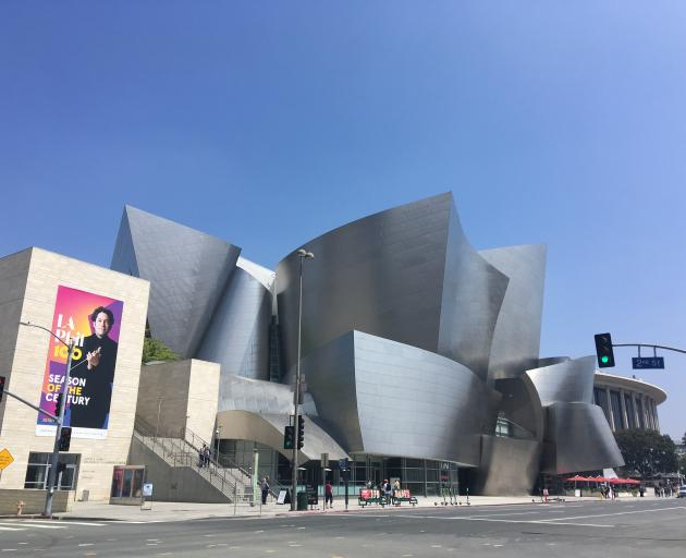 The Frank Gehry-designed Walt Disney Concert Hall turns heads on South Grand Avenue. Photo: Pam Jones