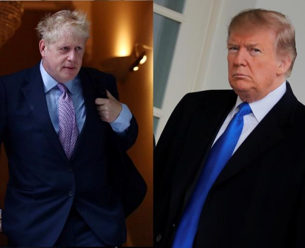 Candidate for the Prime Minister of the UK Boris Johnson and US President Donald Trump. Photos: Reuters