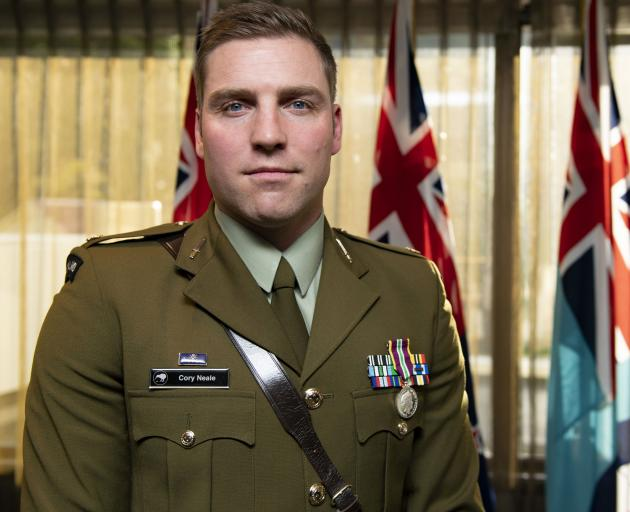 Major Cory Neale, of South Otago, has received a Defence Meritorious Service Medal for his outstanding contribution to the New Zealand Defence Force's training mission in Afghanistan. Photo: New Zealand Defence Force