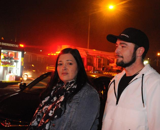 Hillary Hewitt and Sean Anderson raised the alarm and went to the aid of the restaurant occupants last night.
