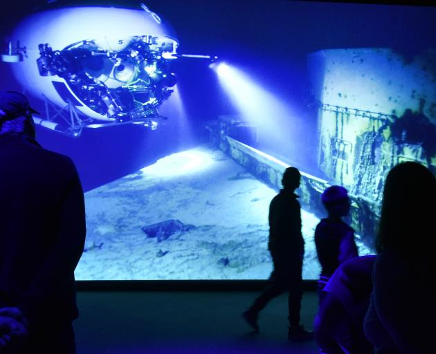 """Inside the """"Challenging the Deep"""" exhibition, from environmentalist and film-maker James Cameron...."""