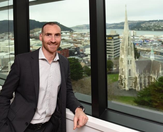 New Deloitte partner Jamie Adamson in the firm's Dunedin boardroom. Photo: Gregor Richardson