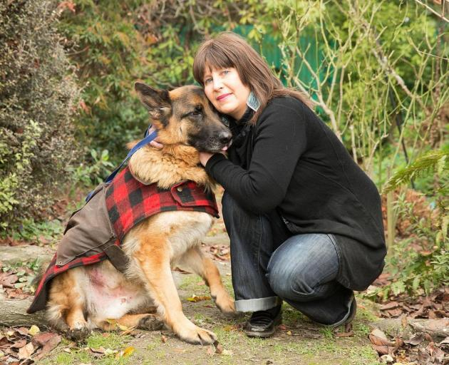 Nichola Crawford has been left overwhelmed by the support she has received after her dog Jerry was attacked by three dogs on Wharenui Rd. Photo: Star.Kiwi