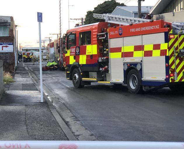 The scene on Glasgow St. Photo: Craig Baxter