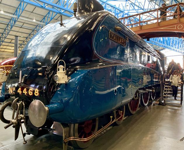 The Mallard, the fastest of all steam trains, is free to touch, gape at and peer inside at York's National Railway Museum.