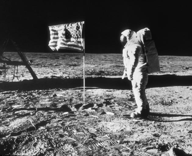 Buzz Aldrin on the moon. Photo: Getty Images