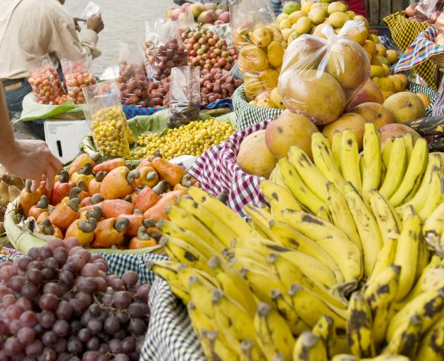 Fresh fruit and p[produce for sale in the markets. Photo: Getty Images