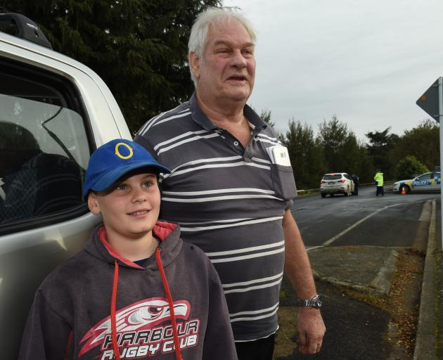 Outside the Taieri Rugby Football Club in Mosgiel after handing in his now-illegal rifle is Keith...