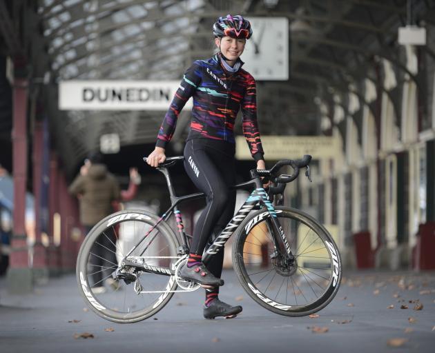 Rookie professional road cyclist Ella Harris is back in dunedin for a brief break. Photo: Gerard O'Brien
