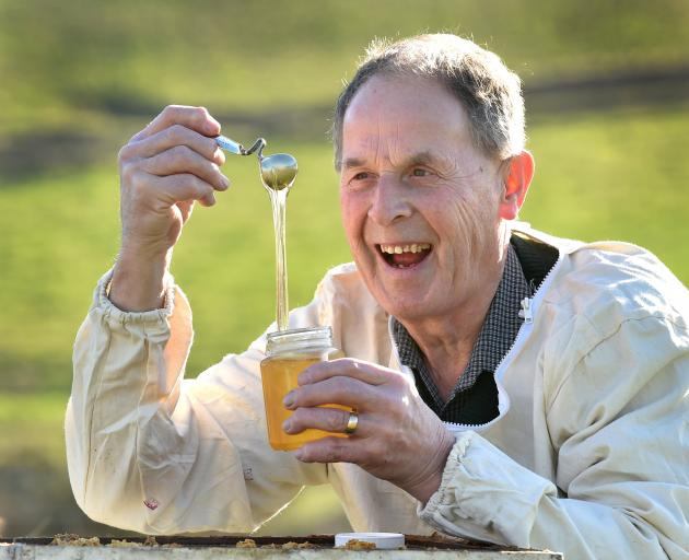Beekeeper Allen McCaw, of Milburn Apiaries, says the secret of his ApiNZ Supreme Award-winning honey lies in the  science. Photo: Peter McIntosh