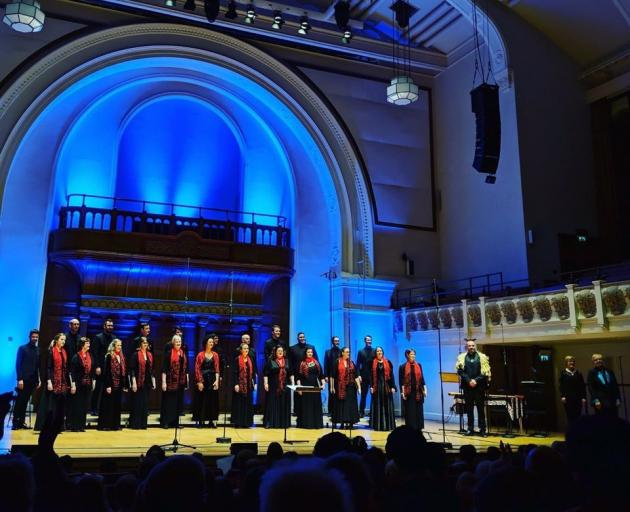 Voices New Zealand, which is touring New Zealand with Follow the Star,  performs in Cadogan Hall, London, during the choir's 2018 European Tour to London, Hamburg, Berlin, Aix-en-Provence and Barcelona. Photo: Supplied