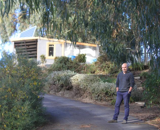 About 25 gum trees at the Waitaki Community gardens are to be cut down to improve soil health, allow for more native planting and to allow the gardens to grow, community gardens operations manager Dan Hyzl says. Photo: Hamish MacLean