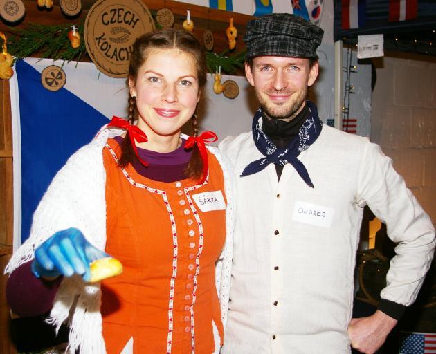 Tempting fellow Oamaru residents with kolacky, homemade Czech pastries, are Oamaru's Sarka...