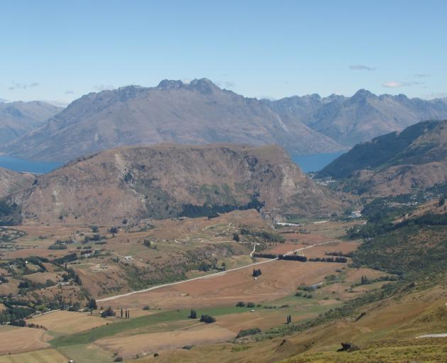 Looking across Speargrass Flat, towards Queenstown in February 2010. Photo: Tracey Roxburgh.
