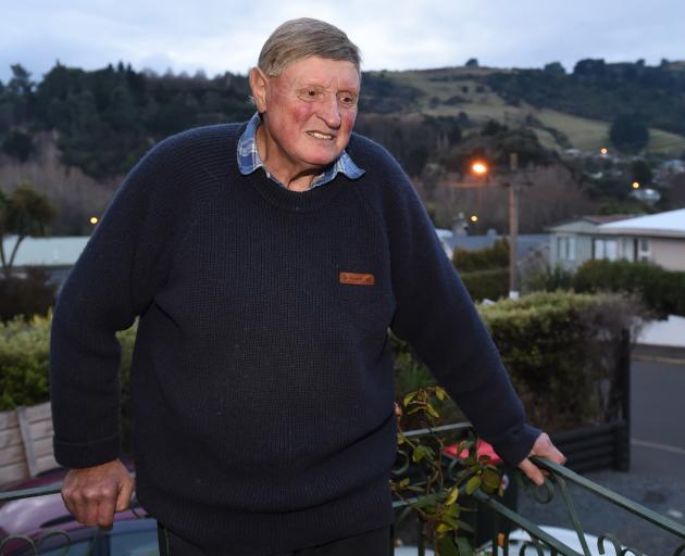 For more than 50 years Baldwin St resident Ray Short has seen the street transform from a quiet, not fully paved road to a major tourist drawcard and the news it was no longer the world's steepest did not bother him much. Photo: Gregor Richardson