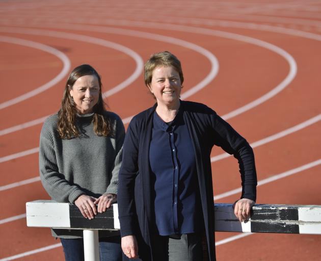 University of Otago physiologist Alison Heather (left) and bioethicist Lynley Anderson at the Caledonian Ground. Photo: Gerard O'Brien
