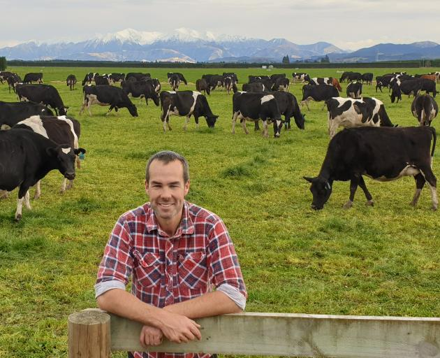 Federated Farmers North Canterbury president Cameron Henderson is enjoying the mild winter, but is wary of what may lie ahead. Photo: Supplied