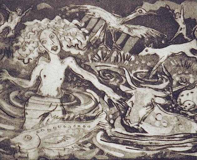Llyn-y-fan-fach (With Fish), by Robert Macdonald