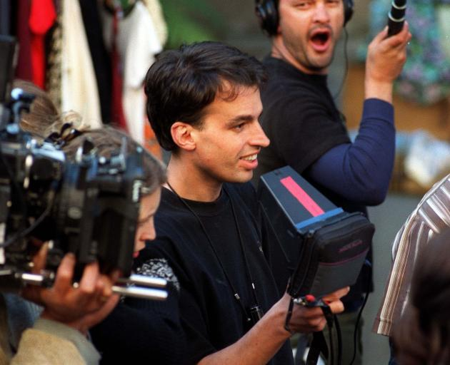 Robert Sarkies on the set of the film in November 1998. PHOTO: OTAGO DAILY TIMES
