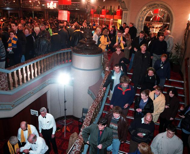 Crowds fill the Regent Theatre for the opening night of the movie. PHOTO: OTAGO DAILY TIMES
