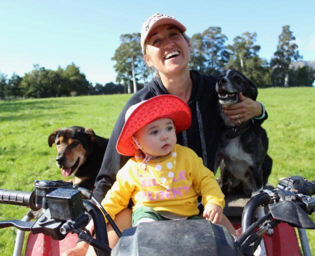 Social Licence to Operate consultant Penny Clark-Hall at home on the farm with daughter Eva....