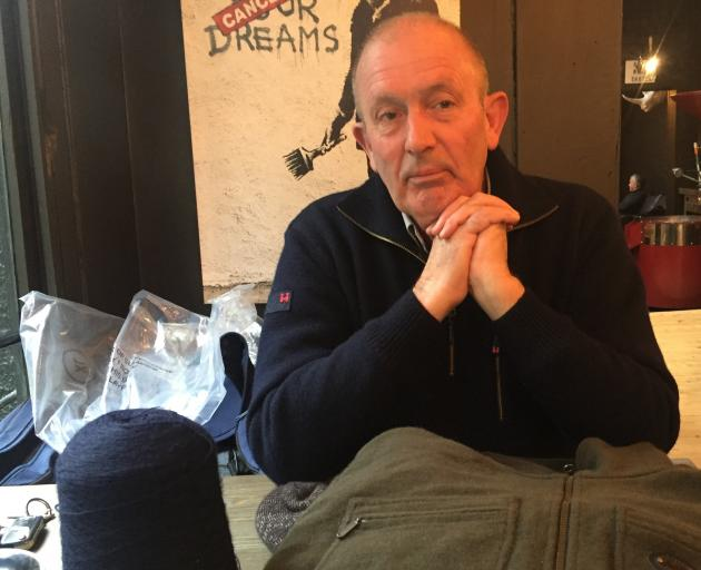 A leap of faith has paid off for former Tamahine Knitwear owner Ken Algie and other farmers involved in a pilot wool clothing project. He is wearing one of the  jerseys.