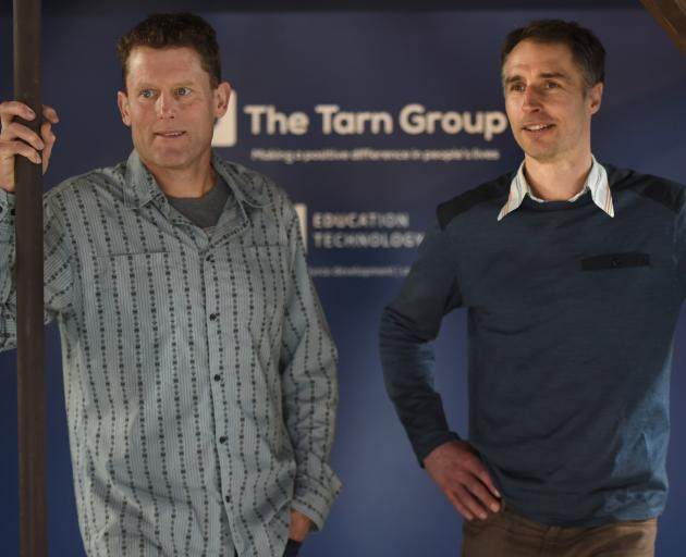 Steve Stanley (left) and James Nation, from The Tarn Group, are excited about the launch of a video software product aimed at the tertiary health sector. Photo: Gregor Richardson