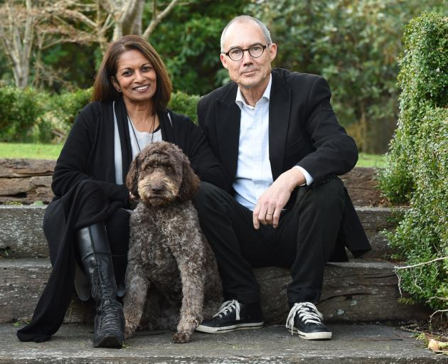 Truffle producers Mirani and Rod Keillor at home in Dunedin with their truffle dog, Rissa. Photo: Gregor Richardson