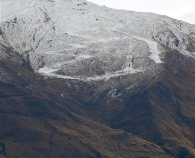 Ski runs at Treble Cone are starting to take shape, with freezing temperatures allowing snow to...