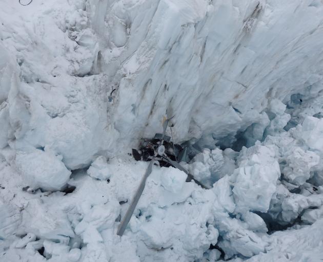The crash scene at Fox Glacier. Photo: NZ Police