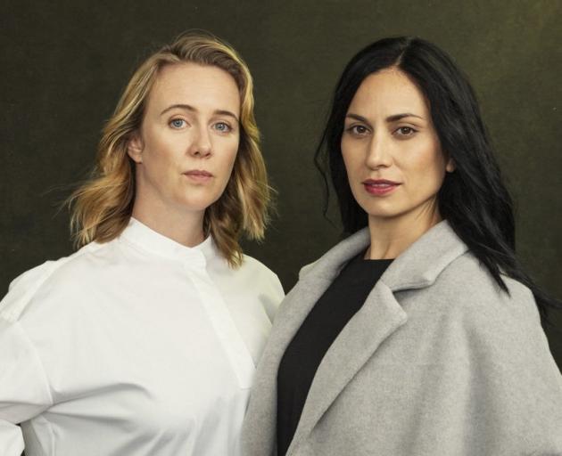 Sophie Hambleton and Kali Kopae in political thriller Burn Her. Photo: Tabitha Arthur Photography