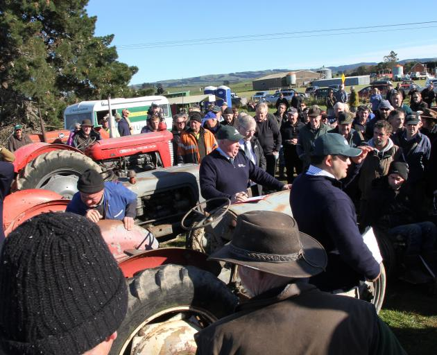 With over 600 buyers eager to hear the bids the Rural Livestock auction team of Rob Fowler, Logan...