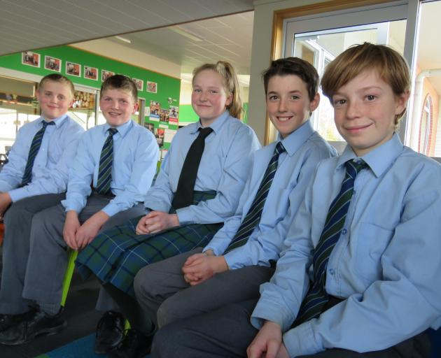 The five children who will be a part of the documentary depicting veteran Bill Roulston's stories...