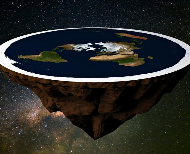 Police allege that a bet over whether the earth is flat resulted in a threat to kill. Image:...