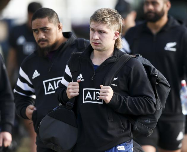 The All Blacks will be without the services of centre Jack Goodhue for the Beldisloe Cup decider...
