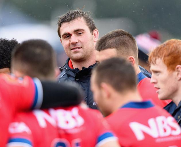 Liam Squire with his Tasman teammates. Photo: Getty Images